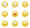 Web 2.0 icons, set Royalty Free Stock Photography