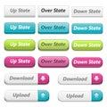 Web 3d Buttons Stock Images