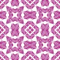 Abstract seamless purple ornament pattern.