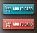 Web add to card buttons Royalty Free Stock Photo