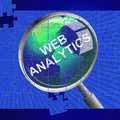 Web analytics means optimizing data and online representing websites info collection Royalty Free Stock Images