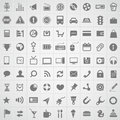 Web application icons collection Stock Image