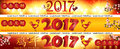 Web banner set for Chinese New Year of the Rooster. Royalty Free Stock Photo
