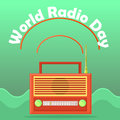 Web banner to the world radio day.