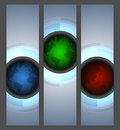 Web banners with globes rgb vector contains transparent objects blends and clipping mask Stock Images