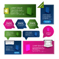 Web banners and pointers illustration of design Royalty Free Stock Photos