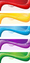 Web banners a set of of different colors Royalty Free Stock Photo