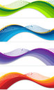 Web banners a set of of different colors Stock Image