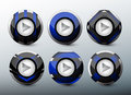 Web blue buttons Royalty Free Stock Photo