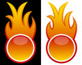 Web Button with Flames Stock Images