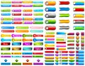 Web button illustration of collection of colorful Stock Photography