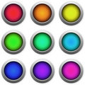 Web button multicolored icons Royalty Free Stock Photos