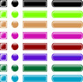 Web button set collection Royalty Free Stock Photo