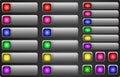 Web button set internet empty colorful rectangular buttons Stock Images