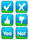 Web button - vote set Stock Photography
