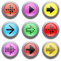 Web buttons Arrow icon Royalty Free Stock Photo