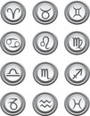 Web buttons with astrology signs Royalty Free Stock Photos