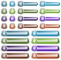 Web Buttons Chromed Royalty Free Stock Photo