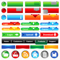 Web buttons collection Royalty Free Stock Photo