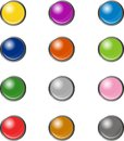 Web buttons a collection of blank glowing Royalty Free Stock Photo