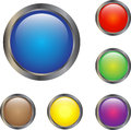 Web buttons a collection of blank glowing Royalty Free Stock Photos