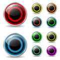 Web buttons with cool colors and shadow Royalty Free Stock Image