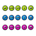 Web Buttons for DVD/VCR/CD Royalty Free Stock Photo