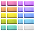 Web buttons in gentle colors set of blank colorful realistic plastic website for your text jpeg Royalty Free Stock Photos