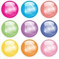 Web Buttons Glass Marbles Royalty Free Stock Photo