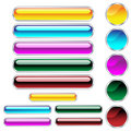 Web buttons glossy assorted colors and shapes Stock Image