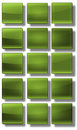 Web buttons glossy set of made of glass shiny colorful square rectangle circle Royalty Free Stock Photography