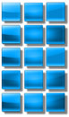 Web buttons glossy set of made of glass shiny colorful square rectangle circle Stock Photo
