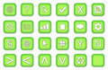 Web Buttons Icons Set Stock Images