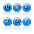 Web buttons incar signs symbols Royalty Free Stock Photography