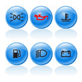 Web buttons incar signs symbols Royalty Free Stock Photo