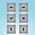 Web buttons with navigations icon vector Stock Photos