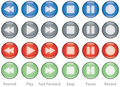 Web buttons player controls Stock Photo