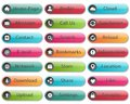Web buttons round and colorful Royalty Free Stock Photo