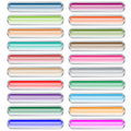 Web buttons set of 20 pastel colors Stock Photos