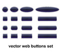 Web Buttons Set Royalty Free Stock Photo