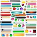 Web buttons set of 63 Royalty Free Stock Images