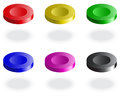 Web buttons set of blank elements vector illustration Stock Photography