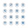 Web buttons set collection of isolated on white background Royalty Free Stock Images