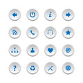 Web buttons set collection of isolated on white background Royalty Free Stock Photo