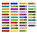Web buttons set of various glossy in colored Stock Image
