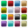 Web buttons square set Royalty Free Stock Image
