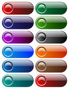 Web buttons vector illustration of Stock Photography