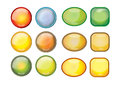 Web buttons vector illustration icon color bar Royalty Free Stock Photos