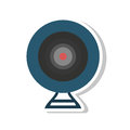 Web camera device isolated icon