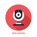 Web camera flat style icon. Wireless technology, video computer device sign. Vector illustration of communication